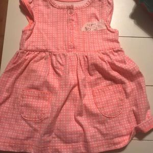 Other - 9 mo pink/white onesie dress
